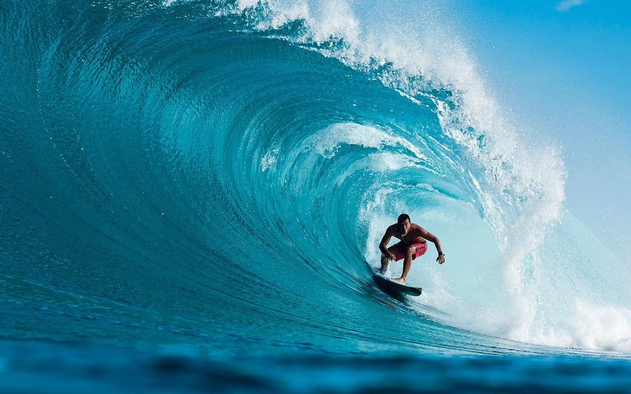 Un cours de surf