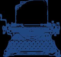 machine-ecrire-bleu
